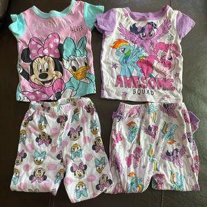 2 pairs of cotton pajamas